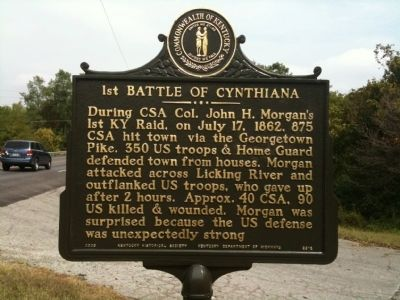 1st Battle of Cynthiana Marker image. Click for full size.