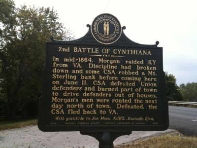 2nd Battle of Cynthiana Marker image. Click for full size.