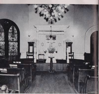Original Tree of Life Congregation interior image. Click for full size.