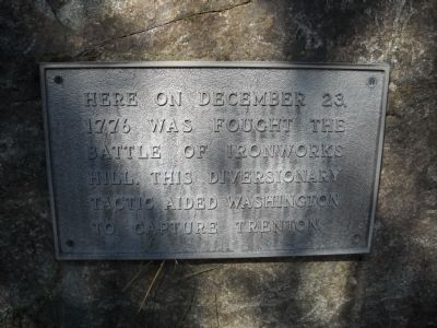 Battle of Ironworks Hill Marker image. Click for full size.