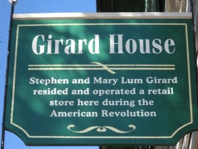 Second Girard House Marker image. Click for full size.