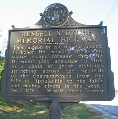 Russell S. Dyche Memorial Highway Marker image. Click for full size.