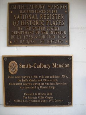 Smith-Cadbury Mansion Marker image. Click for full size.