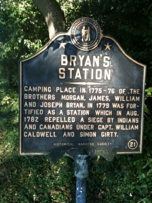 Bryan's Station Marker image. Click for full size.