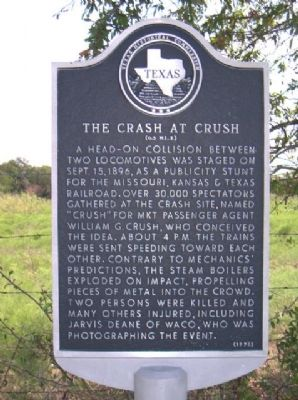 The Crash at Crush Marker image. Click for full size.