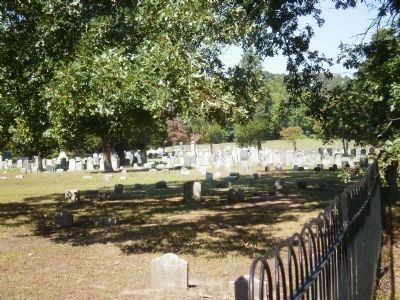 Cemetery Located Behind the Former Upper Springfield Quaker Meeting House image. Click for full size.
