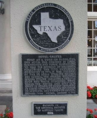 Hotel Galvez Marker image. Click for full size.
