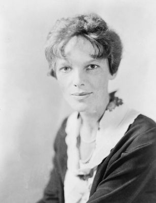 Amelia Mary Earhart<br>(1897-1939) image. Click for full size.