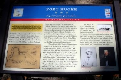 Fort Huger CWT Marker image. Click for full size.