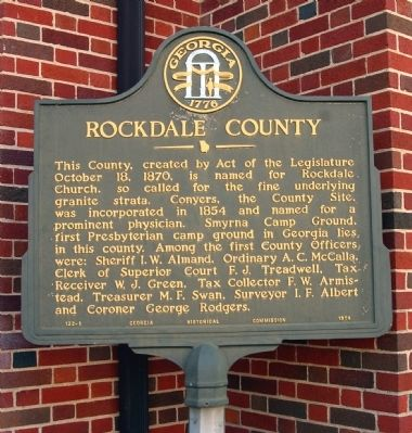 Rockdale County Marker image. Click for full size.