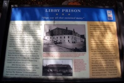 Libby Prison CWT Marker image. Click for full size.