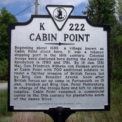 Cabin Point Marker image. Click for full size.