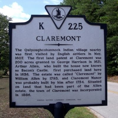 Claremont Marker image. Click for full size.
