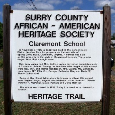Claremont School Marker image. Click for full size.