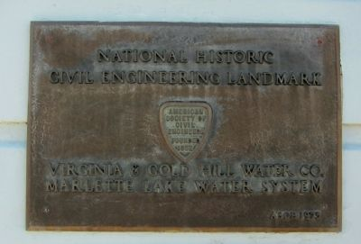 National Historic Civil Engineering Landmark Plaque image. Click for full size.