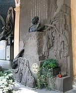 Antonin Dvořák tomb in Prague, Czech Republic image. Click for full size.