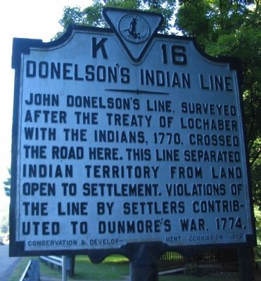 Donelson's Indian Line Marker image. Click for full size.