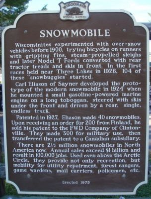 Snowmobile Marker image. Click for full size.