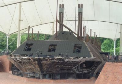 The restored gunboat, U.S.S. <i>Cairo</i> image. Click for full size.