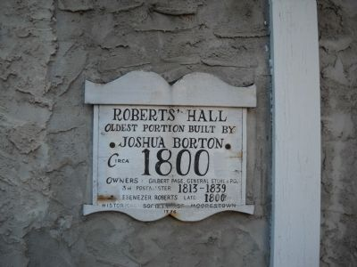 Roberts' Hall Marker image. Click for full size.