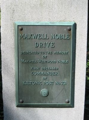 Maxwell Noble Drive Marker image. Click for full size.