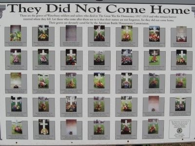 They Did Not Come Home Memorial image. Click for full size.