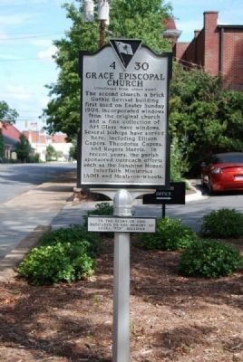 Grace Episcopal Church Marker -<br>Reverse image. Click for full size.