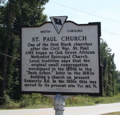 St. Paul Church Marker image. Click for full size.