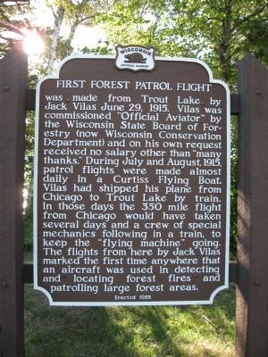 First Forest Patrol Flight Marker image. Click for full size.