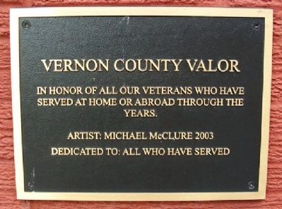 Vernon County Valor Marker image. Click for full size.