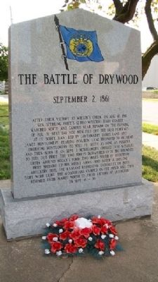 The Battle of Drywood Marker image. Click for full size.