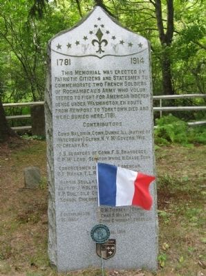 Memorial To Two French Soldiers Marker image. Click for full size.