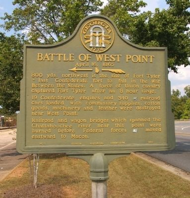 Battle of West Point Marker image. Click for full size.