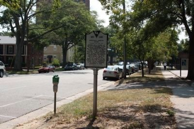 Modjeska Simkins House Marker seen looking south along Marion Street image. Click for full size.