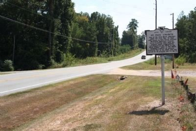 St. Paul Church / Oak Grove Marker, looking south along Kennerly Road image. Click for full size.