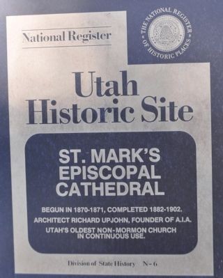 St. Mark's Episcopal Cathedral Marker image. Click for full size.