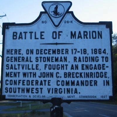 Battle of Marion Marker image. Click for full size.