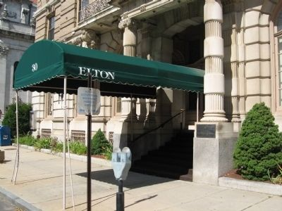The UNICO National Marker and the Hotel Elton Building Entrance image. Click for full size.