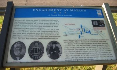 Engagement at Marion Marker image. Click for full size.