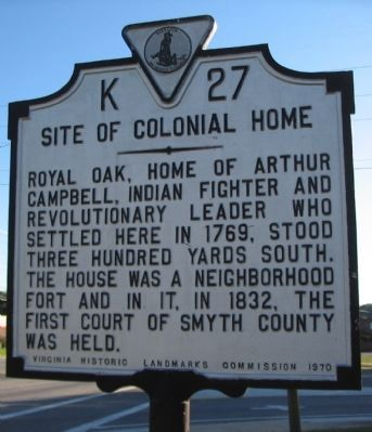 Site of Colonial Home Marker image. Click for full size.