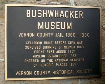 Bushwhacker Museum Marker image. Click for full size.