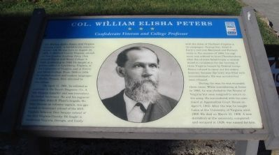 Col. William Elisha Peters Marker image. Click for full size.