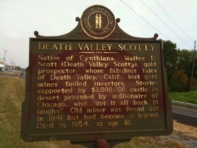 Death Valley Scotty Marker image. Click for full size.