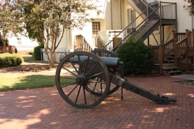 The Augusta Arsenal Cannon display, east side at Parade Ground image. Click for full size.