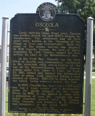 Front of Osceola Marker image. Click for full size.