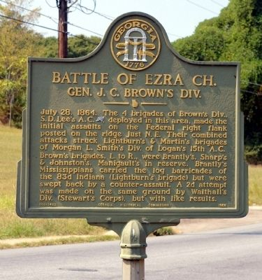 Battle of Ezra Ch. Marker image. Click for full size.