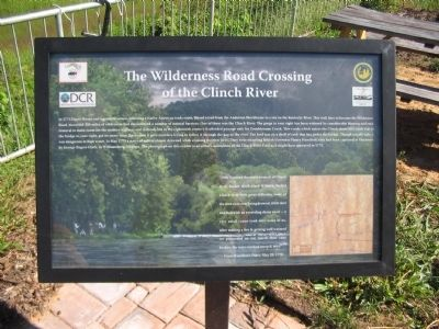 The Wilderness Road Crossing of the Clinch River Marker image. Click for full size.