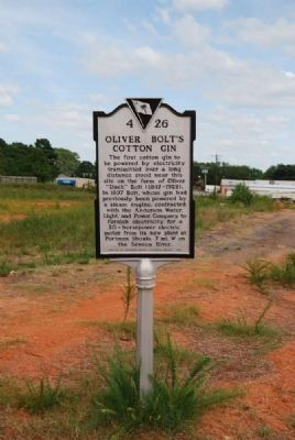 Oliver Bolt's Cotton Gin Marker image. Click for full size.