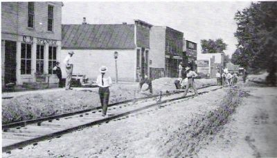 Rails being Laid for the Kingman Interurban - June 1909 image. Click for full size.