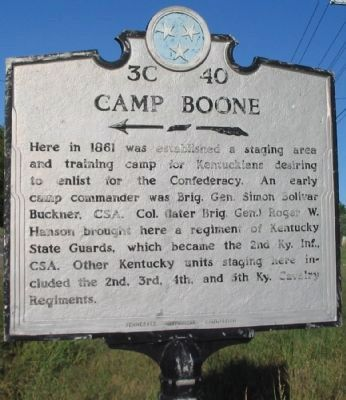 Camp Boone Marker image. Click for full size.